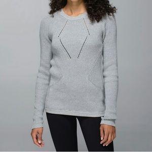 Lululemon The Sweater The Better Light Grey